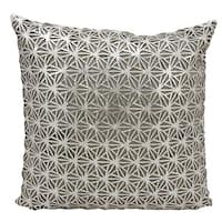 Mina Victory Natural Hide Dragon Claw Silver/ White 18 x 18-inch Throw Pillow by Nourison