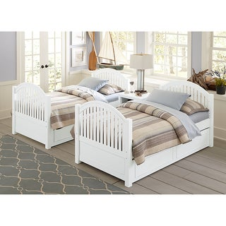 Lake House Adrian White Twin-size Bed with Trundle
