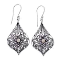 Handcrafted Gold Accent Sterling Silver 'Vintage Lace' Earrings (Indonesia)