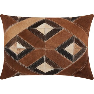 Mina Victory Dallas Four Diamonds Brown Throw Pillow (14-inch x 20-inch) by Nourison
