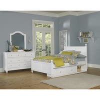 Lake House Kennedy White Full-size Storage Bed