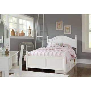 Lake House Payton White Arched Full-size Bed with Storage