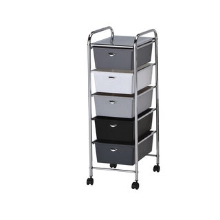 Myah Metal 5-drawer Storage Cart