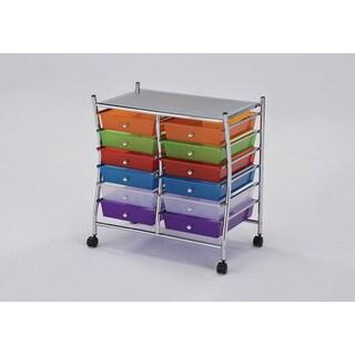Palash Metal 12-drawer Storage Cart