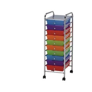 Palash 10-Drawer Metal Storage Cart