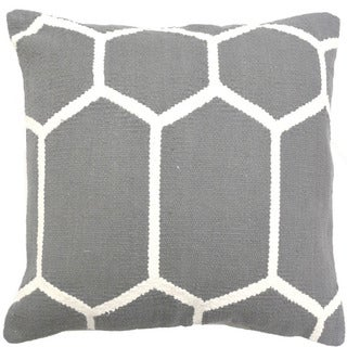 Grey Decorative Throw Pillow