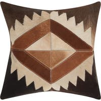 Mina Victory Dallas Western Diamond Brown Throw Pillow (20-inch x 20-inch) by Nourison