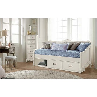 Kensington Elizabeth Antique White Daybed with Storage