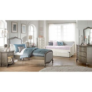 Kensington Katherine Antique Silver Upholstered Twin-size Bed