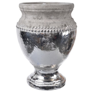 Silver-colored Ceramic Table Vase