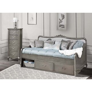 Kensington Elizabeth Antique Silver Twin-size Daybed with Storage