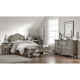 Kensington Charlotte Antique Silver Twin-size Panel Bed