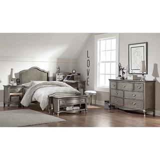 Kensington Charlotte Antique Silver Twin-size Panel Bed
