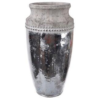 Distressed Ceramic 7-inch x 13-inch Vase