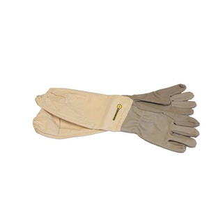 Bee Champions Leather Medium Protective Beekeeping Gloves (Set of 2)
