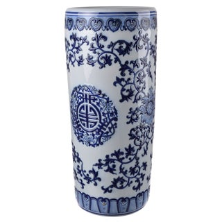 D8 Blue and White Ceramic 18-inch Table Vase