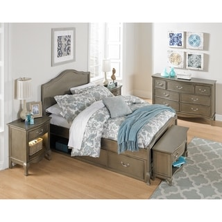 Kensington Charlotte Antique Silver Upholstered Full-size Storage Bed