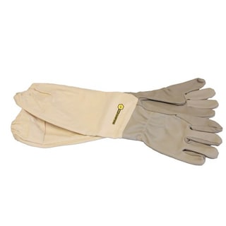 Bee Champions Beige Leather Protective Beekeeping Gloves (Pack of 3)