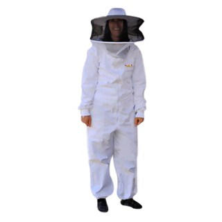Bee Champions Large White Cotton Full Beekeeping Suit - 3 Pack