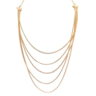 Gold-plated Multi-strand Ball Necklace - Gold