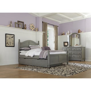 Lake House Payton Stone Grey Full-size Arched Bed with Trundle