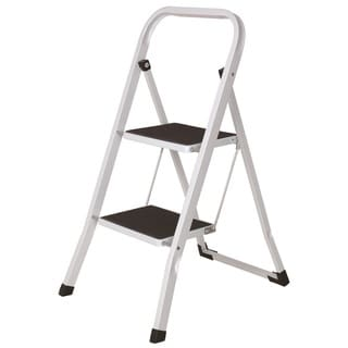 White Metal 2-step Heavy-duty Ladder