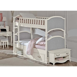 Kensington Victoria Antique White Twin-over-twin Bunk Bed with Storage
