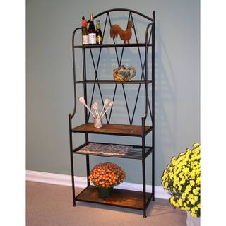 Slate-top Metal Baker's Rack