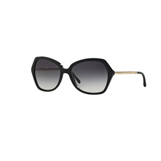 Burberry Women's BE4193 30018G Black Plastic Irregular Sunglasses w/ 57mm Lens