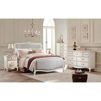 Kensington Katherin Antique White Full-size Upholstered Panel Bed