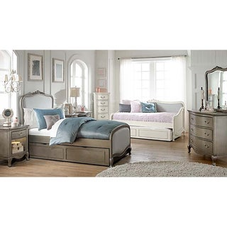 Kensington Katherine Antique Silver Upholstered Twin-size Trundle Bed