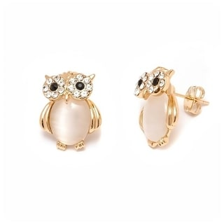 18k Goldplated Sea Shell/Pearl/ Owl Earrings