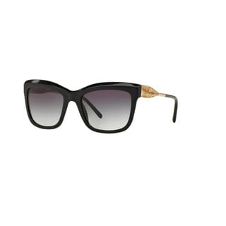 Burberry Women's BE4207 30018G Black Plastic Square Sunglasses w/ 56mm Lens