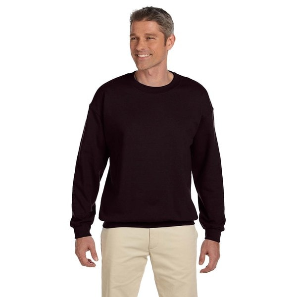 50/50 Fleece Mens Crew-Neck Dark Chocolate Sweater