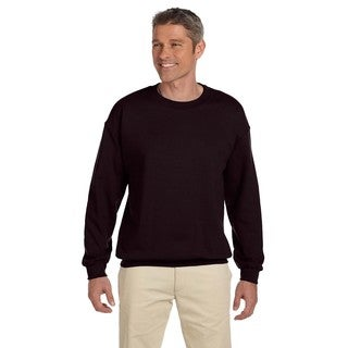 50/50 Fleece Men's Crew-Neck Dark Chocolate Sweater