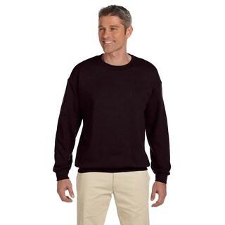 50/50 Fleece Men's Crew-Neck Dark Chocolate Sweater