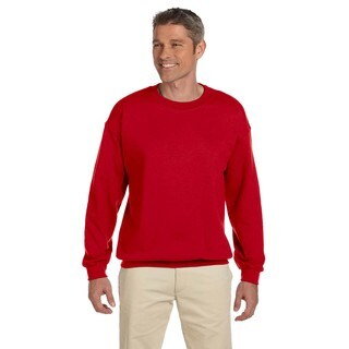 50/50 Fleece Men's Crew-Neck Cherry Red Sweater