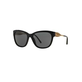 Burberry Women's BE4203F 300187F Black Plastic Cat Eye Sunglasses w/ 57mm Lens