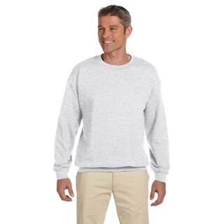 50/50 Fleece Men's Crew-Neck Ash Sweater