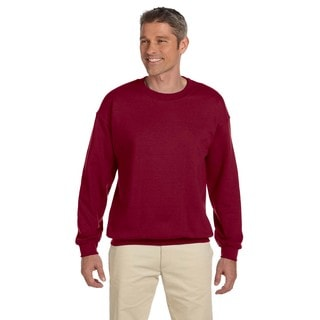 50/50 Fleece Men's Crew-Neck Antque Cherry Red Sweater