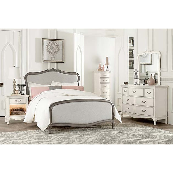 Kensington Katherine Antique Silver Full-size Upholstered Panel Bed