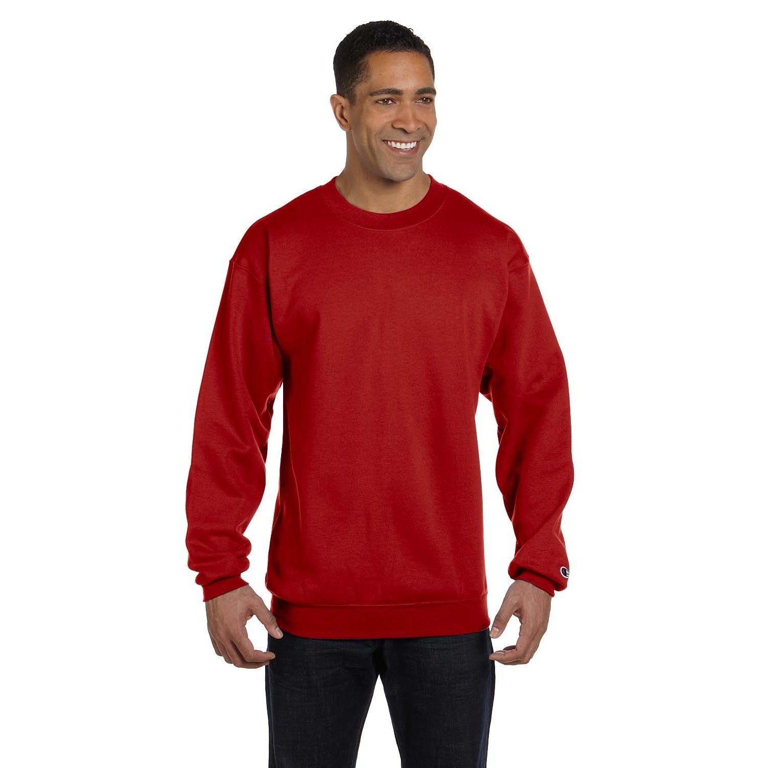 Men's Crew-Neck Scarlet Sweater Red | eBay