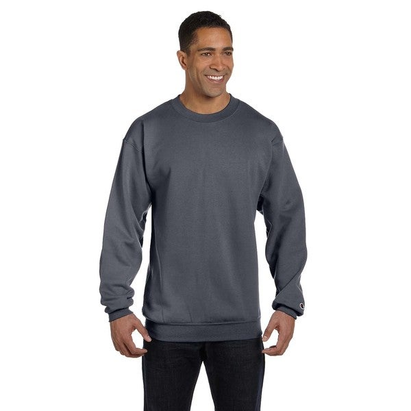 a236e2b6b0 Shop Men s Crew-Neck Charcoal Heather Sweater - On Sale - Free Shipping On  Orders Over  45 - Overstock - 12554520