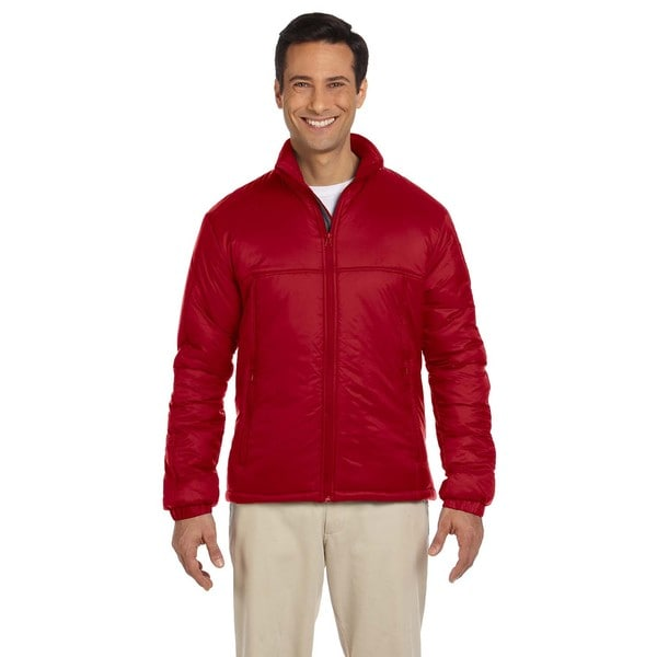 Essential Mens Polyfill Red Jacket