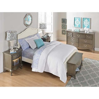 Kensington Charlotte Antique White Full-size Panel Bed