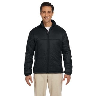Essential Men's Polyfill Black Jacket