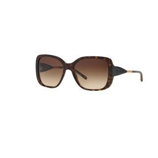Burberry Women's BE4192 300213 Dark Havana Plastic Square Sunglasses w/ 56mm Lens