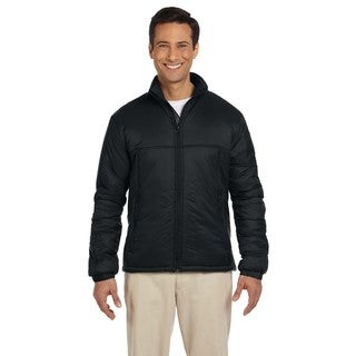 Essential Men's Big and Tall Polyfill Black Jacket