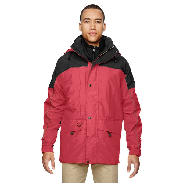 3-In-1 Mens Two-Tone Molten Red 751 Parka