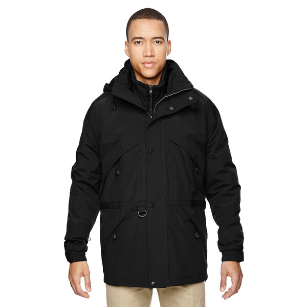 3-In-1 Mens Big and Tall with Dobby Trim Black 703 Parka